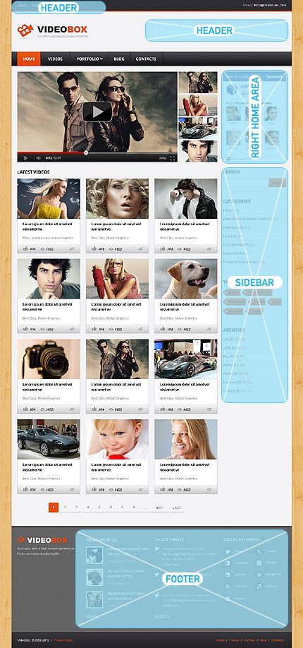 WordPress Theme/Template 40957 Main Page Screenshot