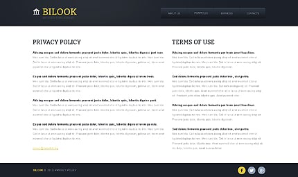 Template 40968 ( Privacy Policy Page ) ADOBE Photoshop Screenshot