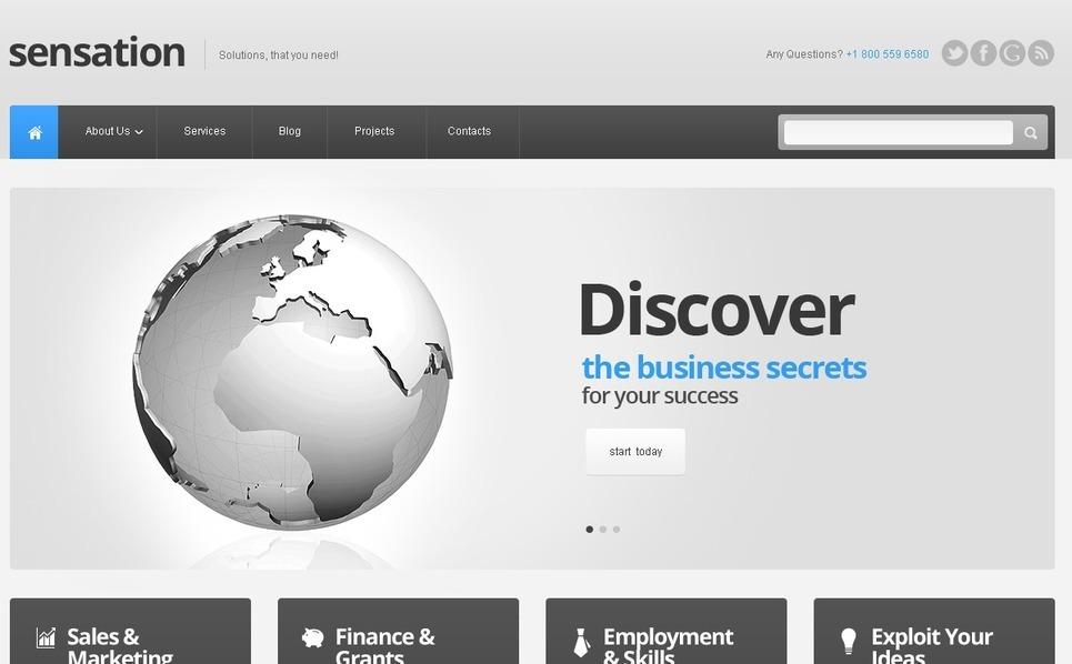 Modello Siti Web Responsive #40970 per Un Sito di Business e Servizi New Screenshots BIG