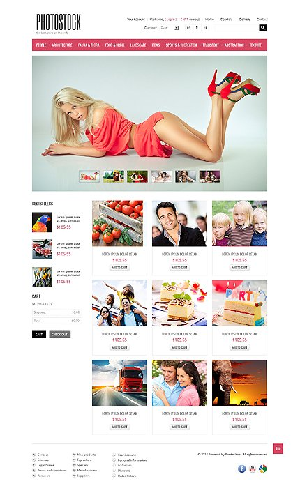 ADOBE Photoshop Template 40973 Home Page Screenshot