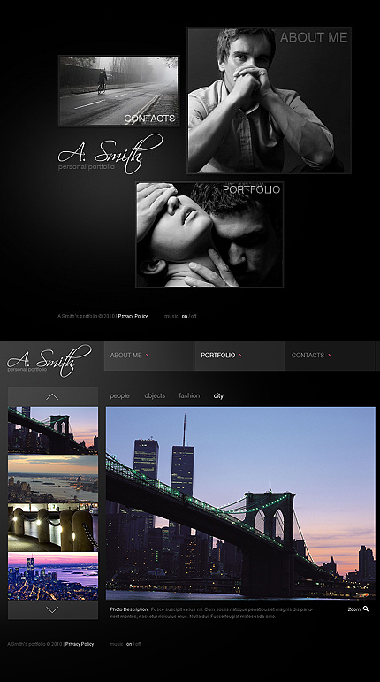ADOBE Photoshop Template 40982 Home Page Screenshot