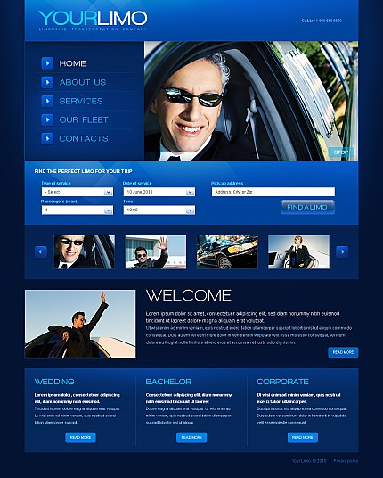 ADOBE Photoshop Template 40983 Home Page Screenshot