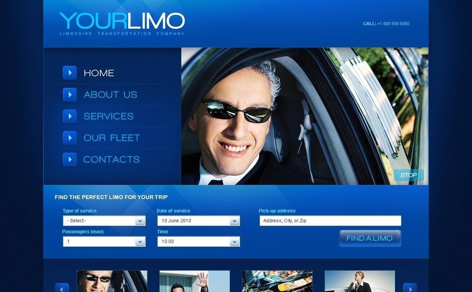 Flash CMS шаблон на тему послуги лімузинів New Screenshots BIG