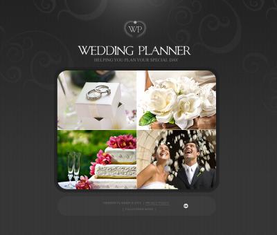 Bröllopsplanerare Flash CMS-mall