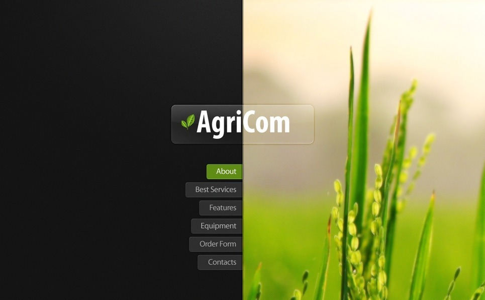 Modèle Flash CMS  pour site agricole New Screenshots BIG
