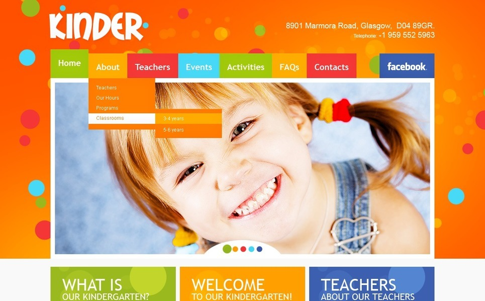 Premium Flash CMS Template over Kindercentrum New Screenshots BIG