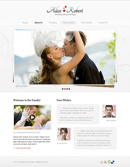 ADOBE Photoshop Template 40994 Home Page Screenshot