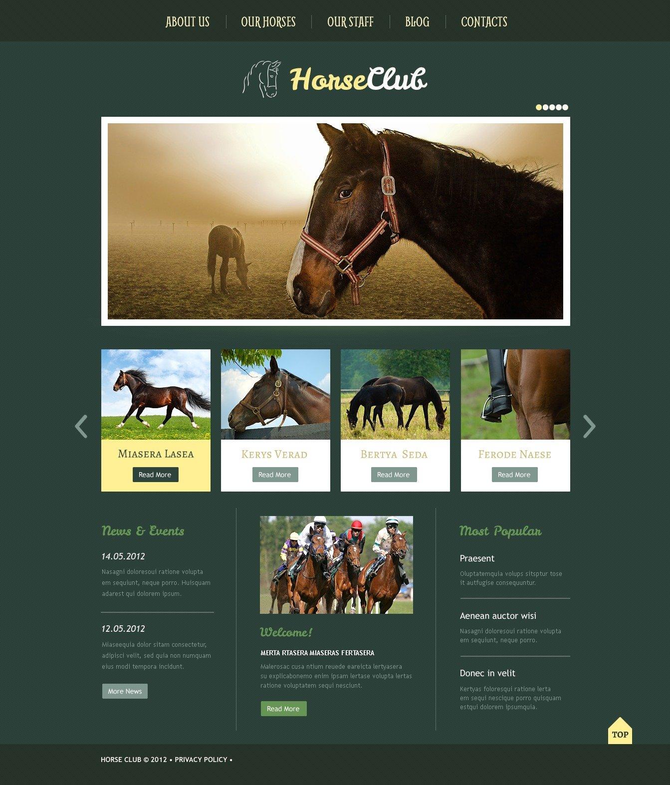 Horse Wordpress Theme 40967