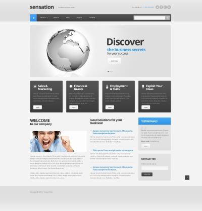 Responsive Plantilla Web #40970 para Sitio de  para Sitio de Negocio y Servicios