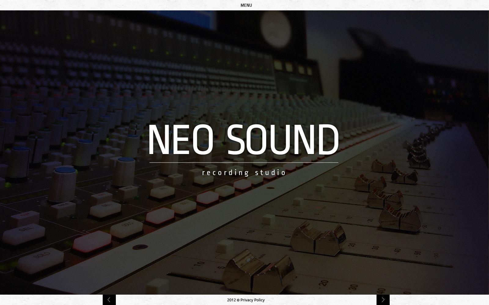 Recording studio website template 40907 recording studio website template pronofoot35fo Image collections