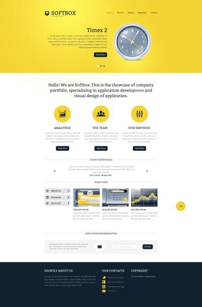 Responsive Website Vorlage für Software