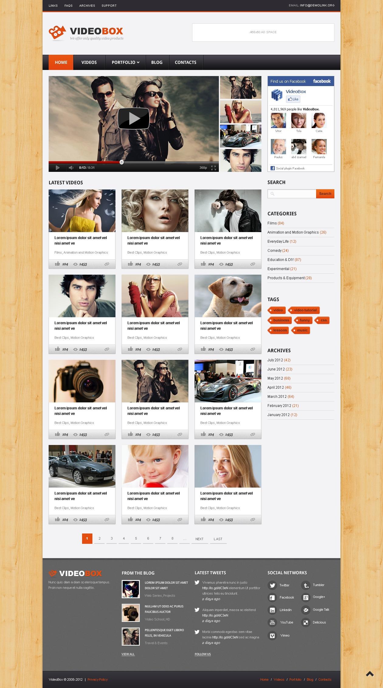 Video Gallery WordPress Theme - screenshot