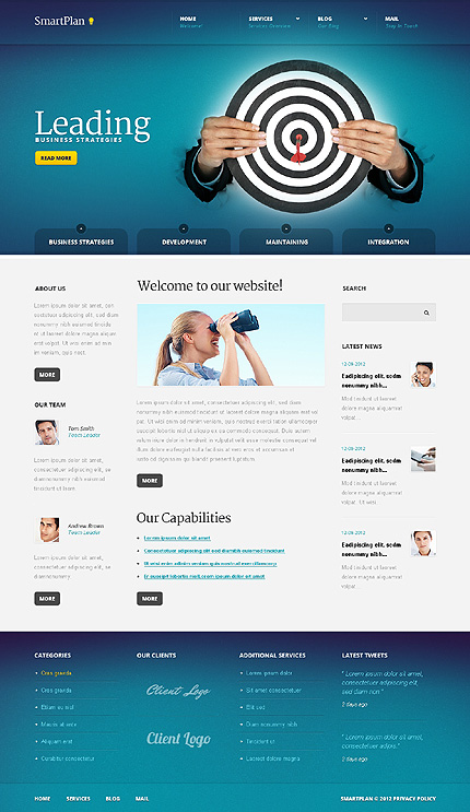 Joomla Theme/Template 41001 Main Page Screenshot