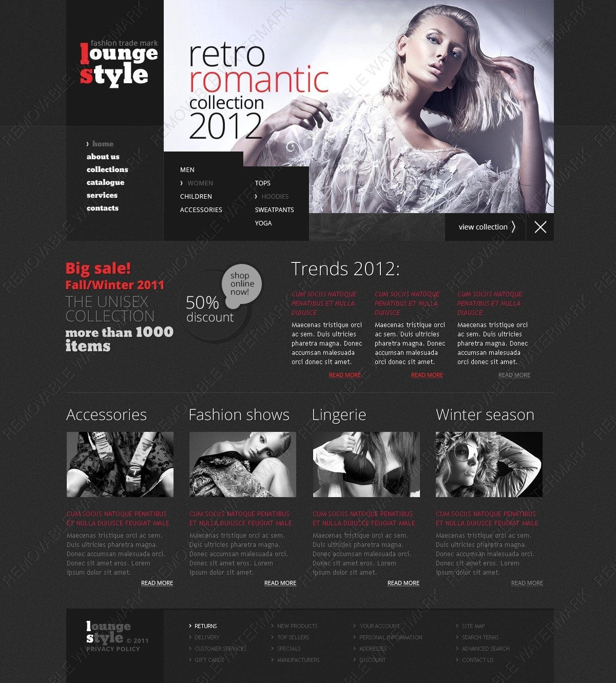Romantic Fashion Website Template 41007 By Wt Website Templates