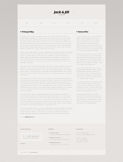 Template 41010 ( Privacy Policy Page ) ADOBE Photoshop Screenshot
