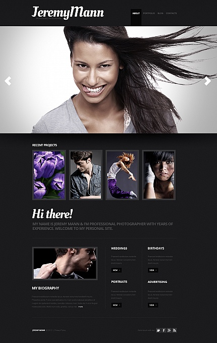 ADOBE Photoshop Template 41012 Home Page Screenshot