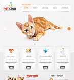 Animals & Pets Moto CMS HTML  Template 41013