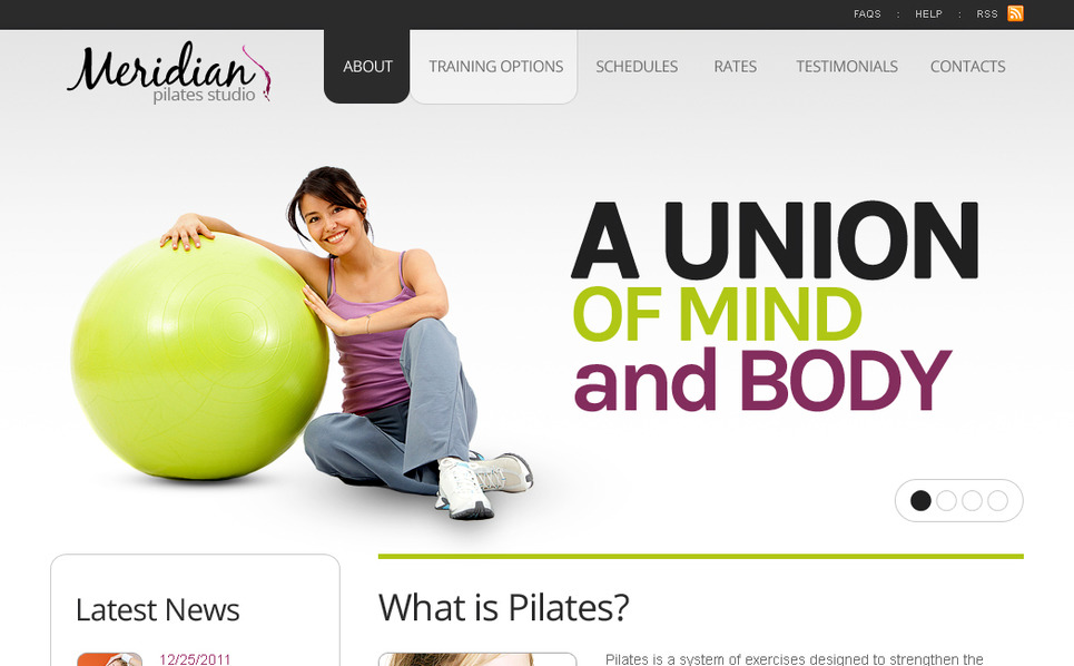 Premium Fitness  Moto Cms Html Şablon New Screenshots BIG