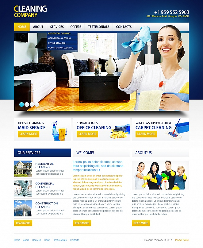 Cleaning and Maintenance Template in Bright Colors - image