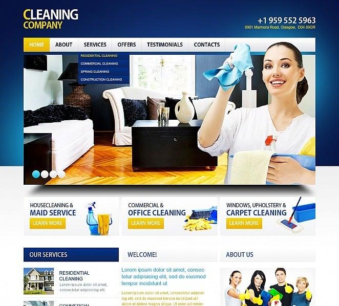 Szablon Moto CMS HTML #41021 na temat: czyszczenie New Screenshots BIG