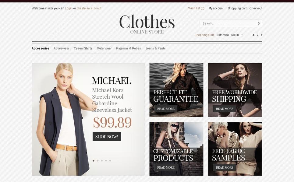 """""""Magasin de vêtements"""" thème OpenCart  New Screenshots BIG"""