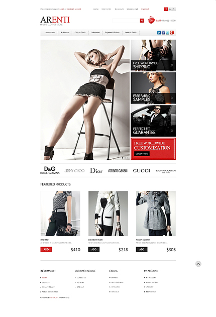 ADOBE Photoshop Template 41024 Home Page Screenshot
