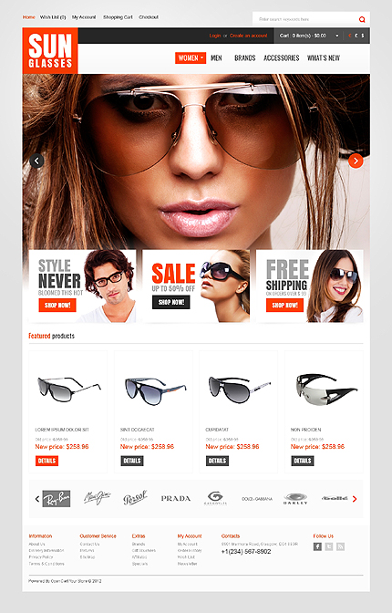 ADOBE Photoshop Template 41028 Home Page Screenshot