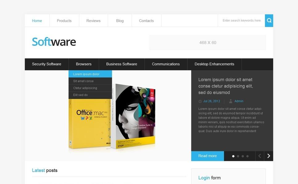 Drupal Vorlage für Softwarefirma  New Screenshots BIG