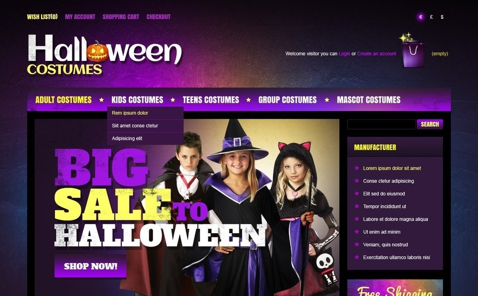 OpenCart Template over Halloween New Screenshots BIG