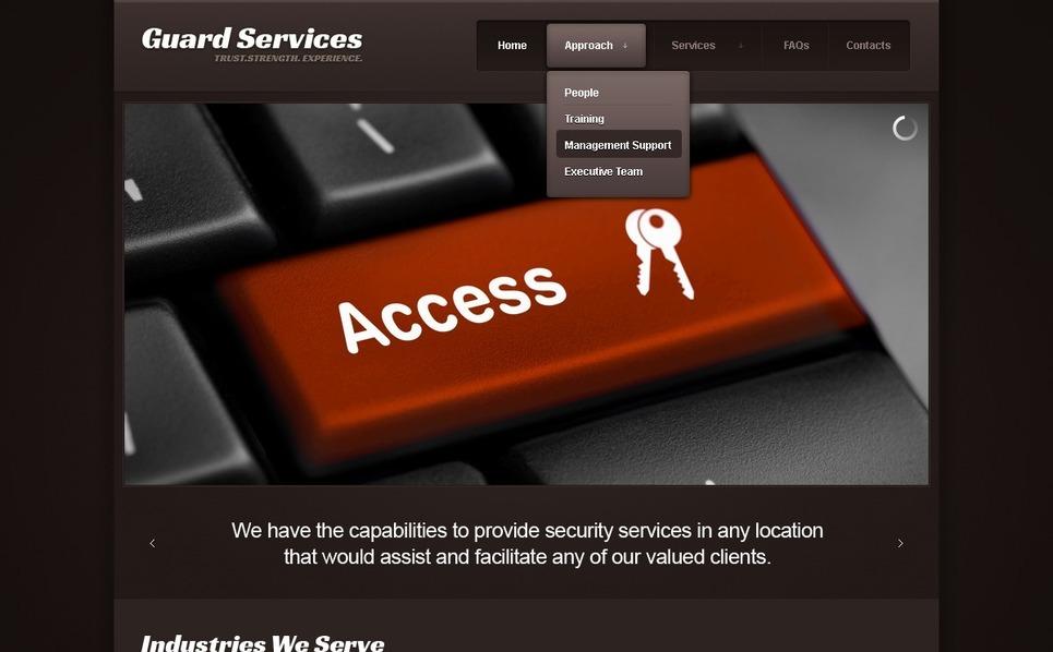 Modello Siti Web  #41054 per Un Sito di Sicurezza Informazioni New Screenshots BIG