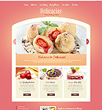 Food & Drink Website  Template 41055