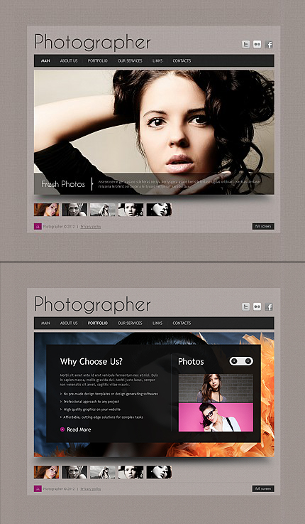 ADOBE Photoshop Template 41063 Home Page Screenshot