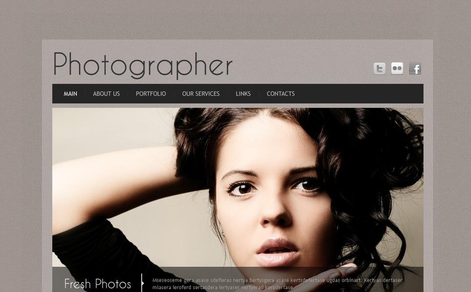 Template de Galeria de Fotos para Sites de Portfólio de Fotografo №41063 New Screenshots BIG