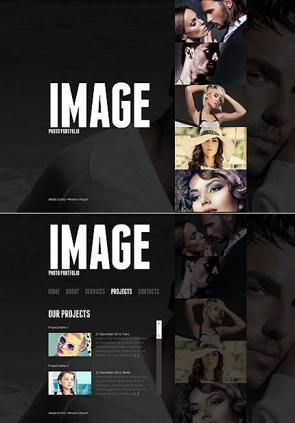 ADOBE Photoshop Template 41064 Home Page Screenshot