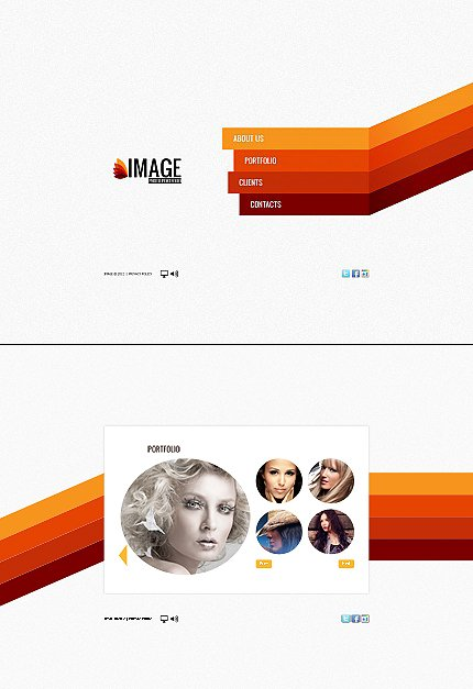 ADOBE Photoshop Template 41065 Home Page Screenshot