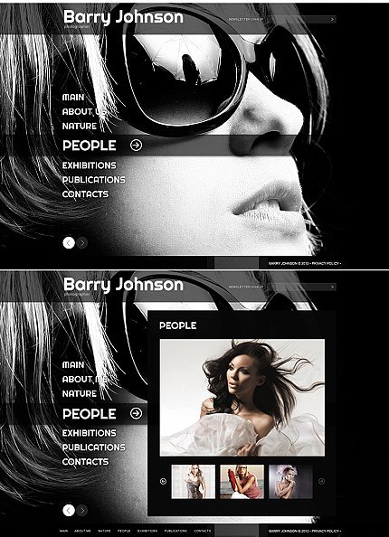 ADOBE Photoshop Template 41067 Home Page Screenshot