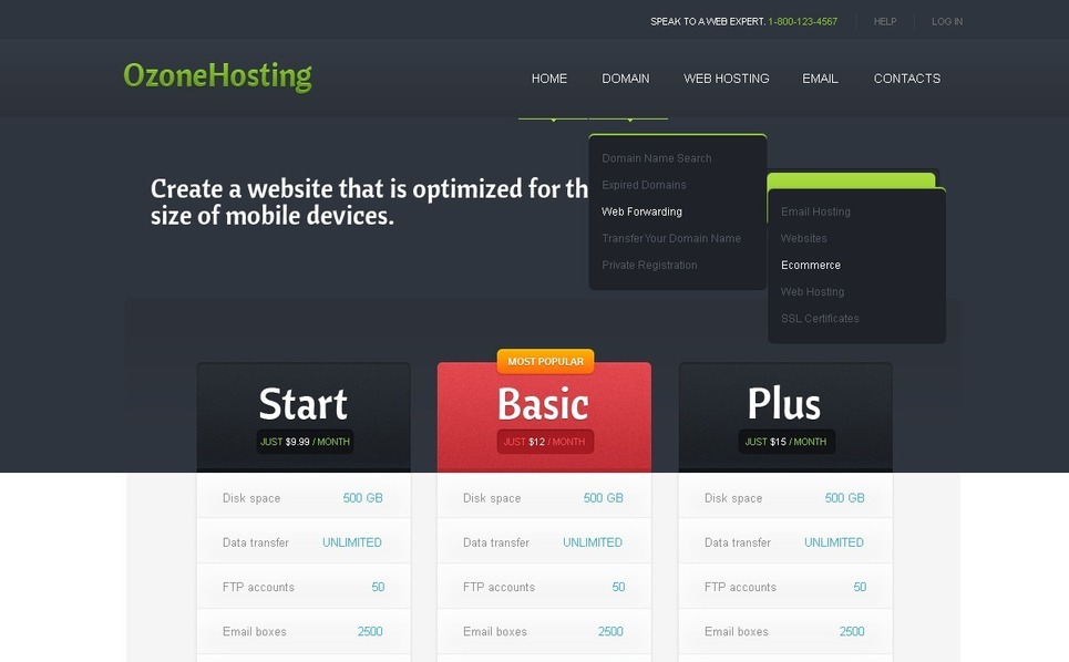 Szablon Strona Www #41079 na temat: hosting New Screenshots BIG