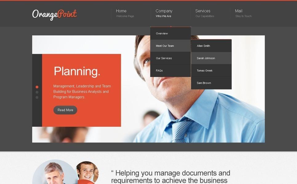 Website template over Beheermaatschappij  New Screenshots BIG