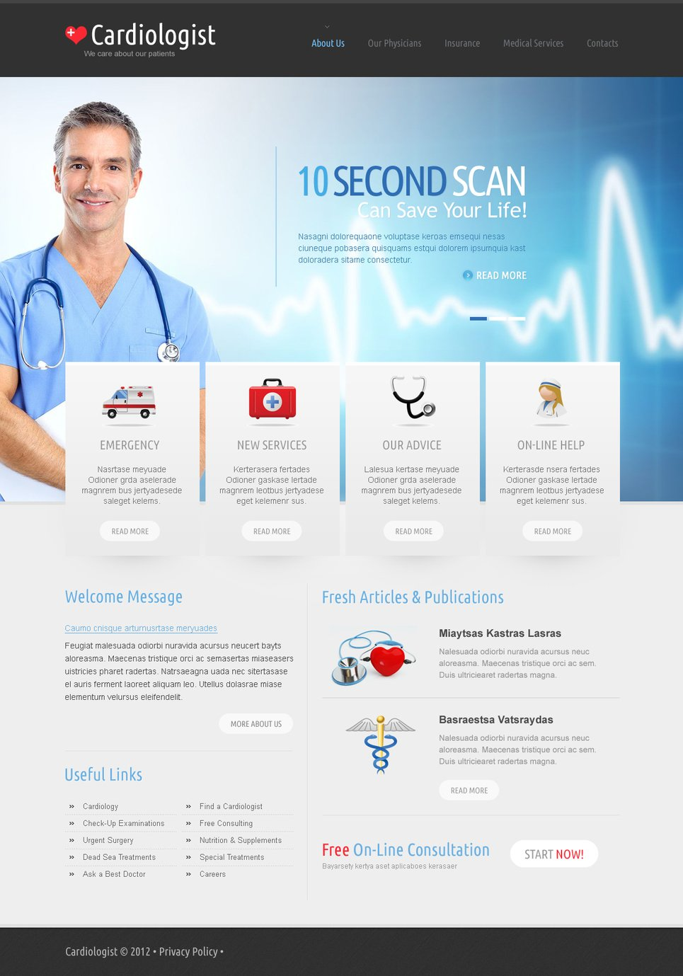 Medical Website Template for Heart Centers and Cardiologists - image