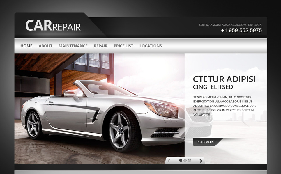 Premium Moto CMS HTML Template over Autoreparatie  New Screenshots BIG