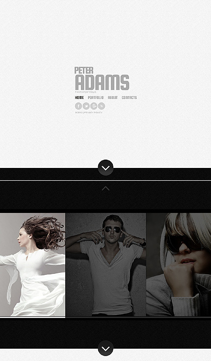 ADOBE Photoshop Template 41084 Home Page Screenshot