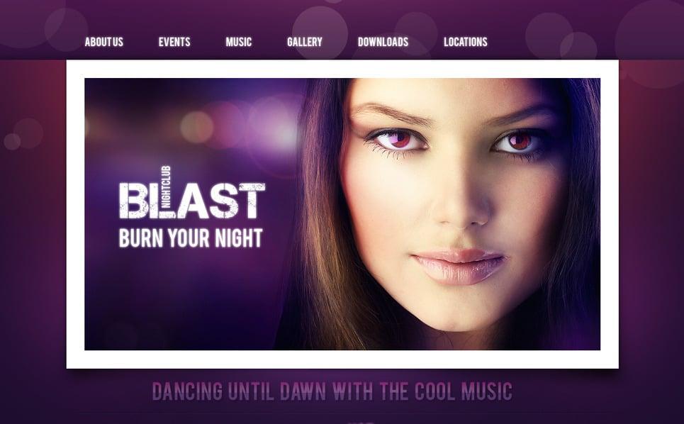 Szablon Moto CMS HTML #41086 na temat: klub nocny New Screenshots BIG