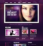 Night Club Moto CMS HTML  Template 41086