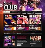 Night Club Moto CMS HTML  Template 41087
