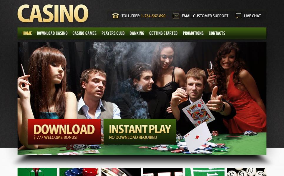 Luxusní Moto CMS HTML šablona na téma Kasino Online New Screenshots BIG