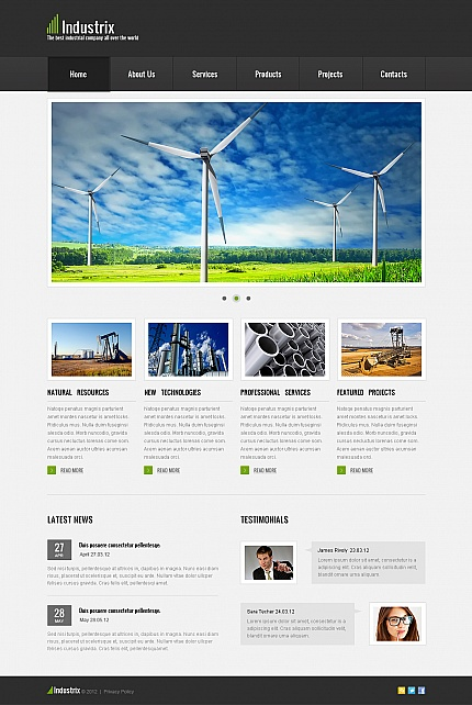 ADOBE Photoshop Template 41089 Home Page Screenshot