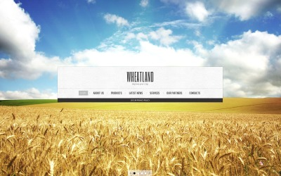 Jordbruk Hemsidemall