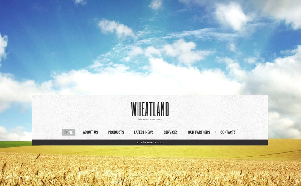 Plantilla Web #41099 para Sitio de Agricultura New Screenshots BIG