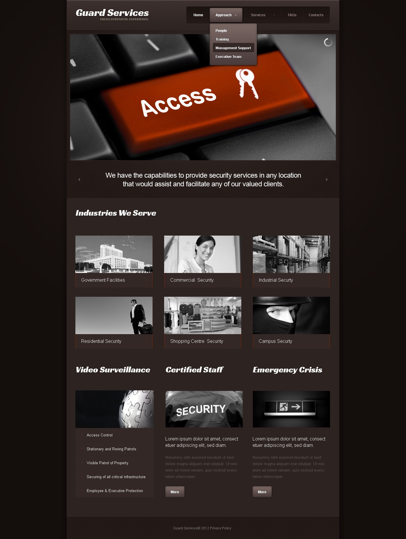 information security website template 41054. Black Bedroom Furniture Sets. Home Design Ideas