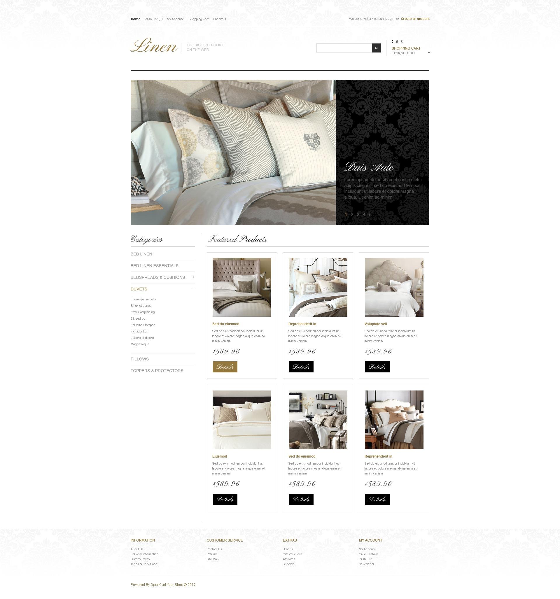 Linen for royal beds opencart template 41027 linen for royal beds opencart template toneelgroepblik Images